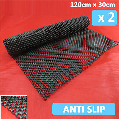 2 Non Slip Rubber Mat Roll - 120cm x 30cm Indoor Outdoor For Home Office Car etc