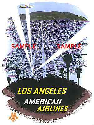 """FLAGSHIP American Airlines 8.5/' X 11/""""  Travel Poster"""
