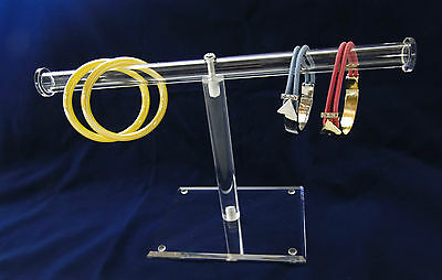 Clear Acrylic T-Bar Display Stand For Bracelets  Closeout price !