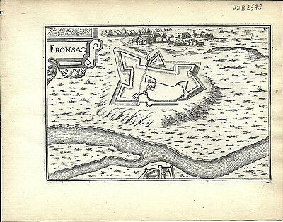 Antique map, Fronsac