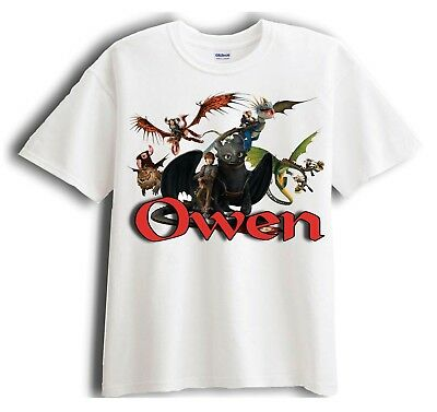 How to Train Your Dragon Personalized - Custom Shirt Party Favor