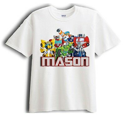 Transformer Rescue Bots Personalized - Custom Shirt Party Favor
