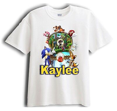 Sonic the Hedgehog Personalized - Birthday T-Shirt Party Favor