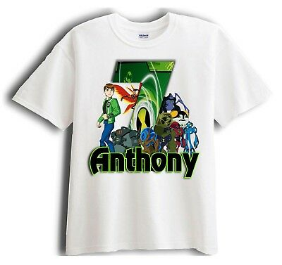 Ben 10 Personalized - Birthday T-Shirt Party Favor
