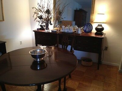 Chippendale-style dining table and 4 chairs