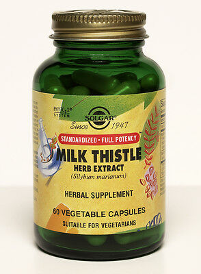 Solgar Standardized Full Potency Milk Thistle Herb Extract 60 Vegetable Capsules