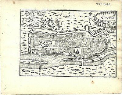 Antique map, Nevers