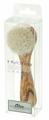 Hydrea London Olive Wood Exfoliating Facial Brush With Pure Mane Bristle WOF1GH