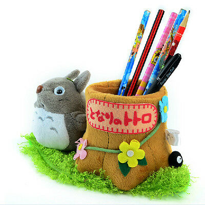 Cute Cartoon Gray Totoro Plush Pencil Pen Container  Stationery