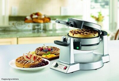 Belgian Waffle Maker Premium Commercial Double Iron Professional Baker Breakfast