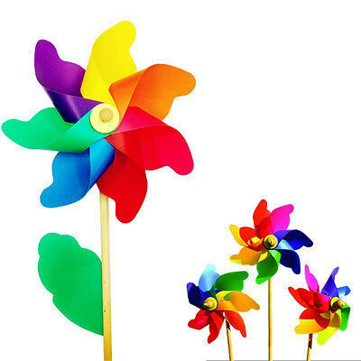 Colorful Plastic Pinwheel Wind Spinner windmill Wedding/Kids Party Prom Supplies