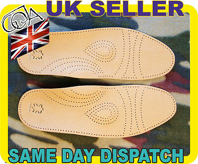 Real Leather Very High Quality New Orthotic Arch Support Massaging Insoles