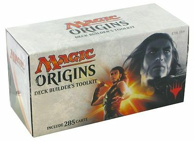 MAGIC ORIGINS DECK Builder's Toolkit con 285 Carte in ITALIANO Nuovo