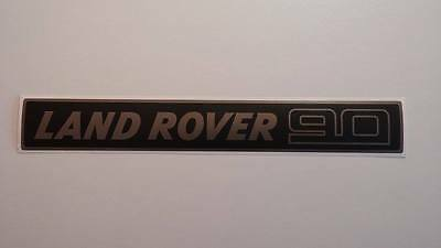 Land Rover DEFENDER 90 Front Grille Gray/Black Decal Logo Adhesives Sticker