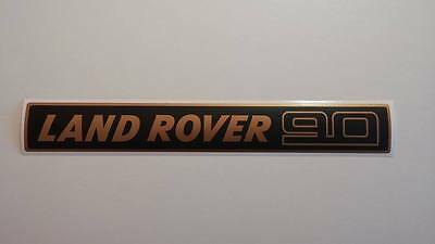 Land Rover DEFENDER 90 Front Grille Gold/Black Decal Logo Adhesives Sticker