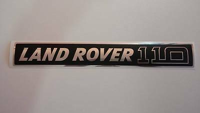 Land Rover DEFENDER 110 Front Grille Chrome/Black Decal Logo Adhesives Sticker