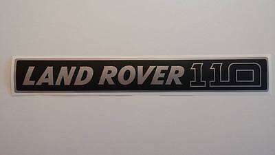 Land Rover DEFENDER 110 Front Grille Silver/Black Decal Logo Adhesives Sticker
