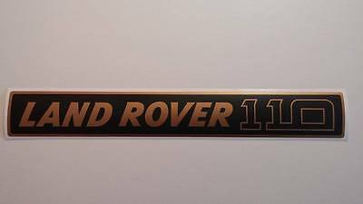 Land Rover DEFENDER 110 Front Grille Gold/Black Decal Logo Adhesives Sticker