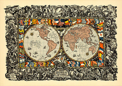 This World of Ours Showing the New National Boundaries 75cm x 53cm Art Print