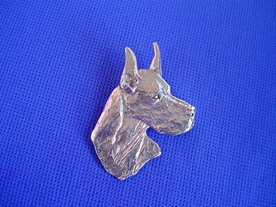 Great Dane pin HEAD TURNING #30C Pewter Sporting Dog Jewelry by Cindy A. Conter