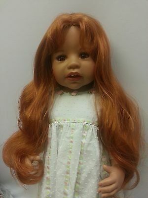 "NWT Monique Sara May Carrot Doll Wig 16-17"" fits Masterpiece Doll(WIG ONLY"