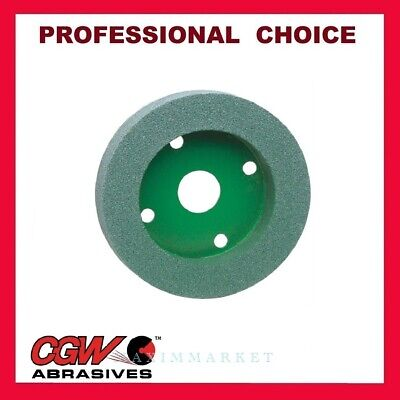 "CGW Green Silicon Carbide Plate Mounted Wheel 6""x 1""x 4"" Grit: 60, 80, 100, 120"
