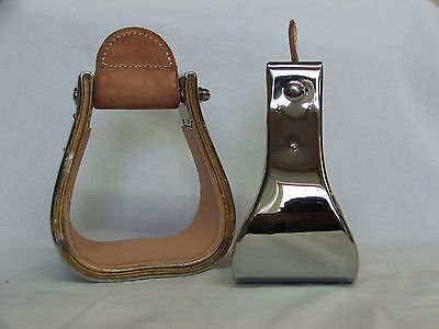 """Stainless Steel Stirrups 4"""" Bell"""