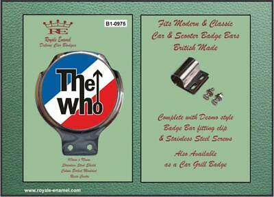 Royale Classic Car Badge & Bar Clip THE WHO Mod B1.0975
