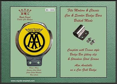 Royale Classic Car Badge & Bar Clip AA AUTOMOBILE ASSOCIATION Mod B1.1333