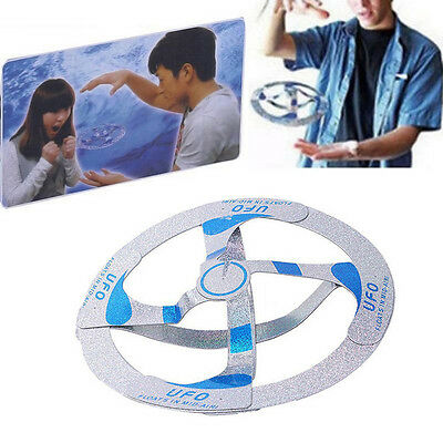 Amazing Mystery UFO Floating Flying Disk Hovers Saucer Magic Trick Toy Gift