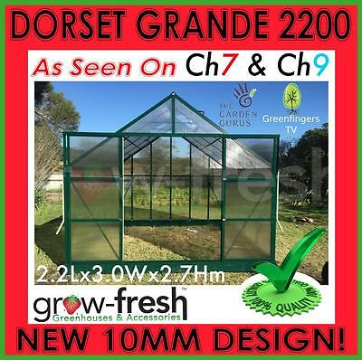 10mm ALUMINIUM POLYCARBONATE Garden GREENHOUSE Shade GREEN HOT HOUSE Shed 2.2S