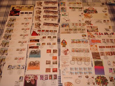 FDC Envelopes Australia 1980's Stamps