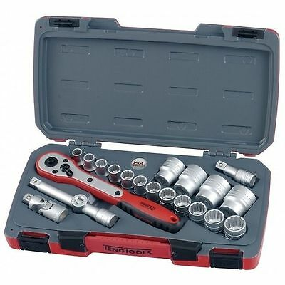 Teng Tools 1/2 Drive Sockets Ratchet Extensions Tool Set With Case