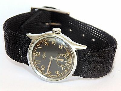Disam Military Watch Ww2 Swiss Luftwaffe  Vintage Movement