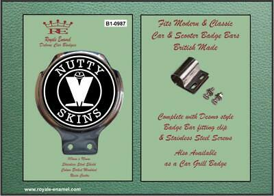 Royale Classic Car Badge & Bar Clip MADNESS NUTTY SKINS B1.0987