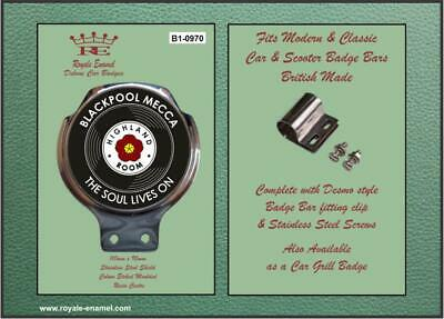 Royale Classic Car Badge & Bar Clip BLACKPOOL MECCA NORTHERN SOUL B1.0970