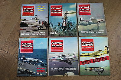 (E2D) 12 Vintage Aviation Magazines Flying Review International 1966 See Photos