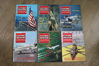 (E2D) 12 Vintage Aviation Magazines Flying Review International 1967 See Photos