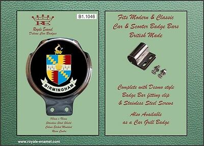 Royale Classic Car Scooter Badge & Bar Clip - BIRMINGHAM CITY ARMS MOD - B1.1046
