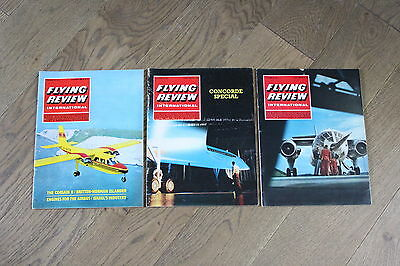 (E1E) 3 Vintage Aviation Magazines Flying Review International 1968 See Photos