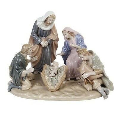 "10"" Nativity Scene Porcelain Holy Family Angel Jesus Statue Figurine Gift P9130"