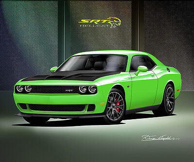 Dodge Challenger Hell Cat Fine art print poster by artist Danny Whitfield