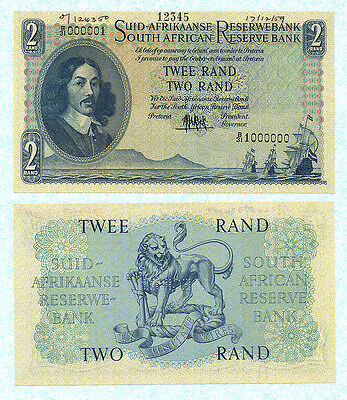 SOUTH AFRICA 2 Rand 1959 P105as UNC Archive SPECIMEN