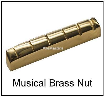 """USA MADE AxeMasters 1 3/4"""" BRASS NUT made for TAYLOR Acoustic Guitar"""