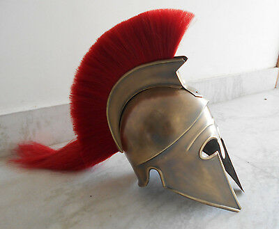 Greek Corinthian Armor Helmet ~ Brass Antique  ~ Medieval Knight Crusader Armor