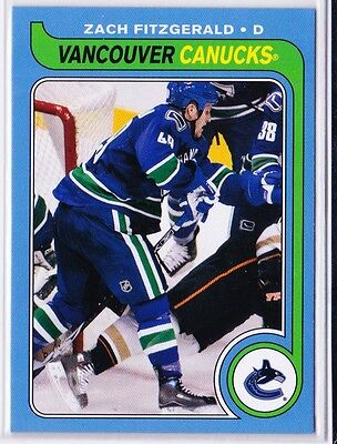 2008-09 O-Pee-Chee Retro #503 Zach Fitzgerald Vancouver Canucks Rookie Year