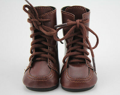 Doll Shoes Vintage Brown Leather Boots Fit For18 inch Girl Doll Shoes Clothes