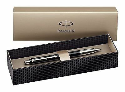 Parker Vector Standard Ballpoint Ball Pen Black Stainless Steel Presentation Box