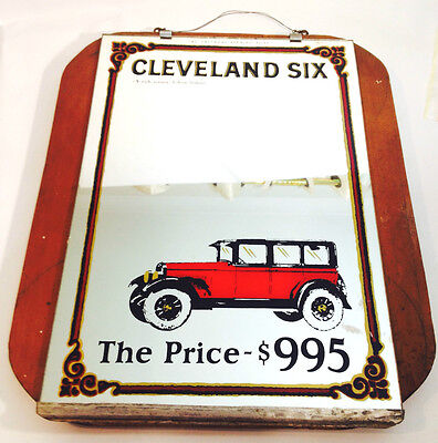 Bar MIRROR CLEVELAND SIX 39 x 47cm OLD VINTAGE
