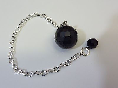 Pendulum from dowsing PROTECTION OBSIDIAN EYE CELESTE A FACETS 16MM